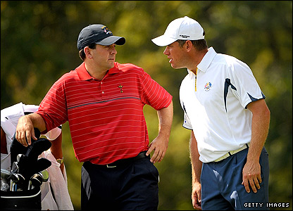 Ben Curtis (left) and Lee Westwood