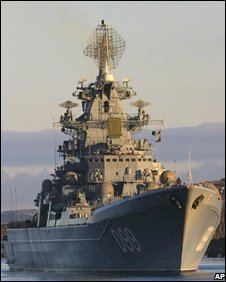 Russia's Peter the Great warship. File photo