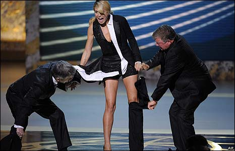 Tom Bergeron, Heidi Klum and William Shatner