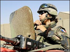 A French soldier in Kabul. File photo