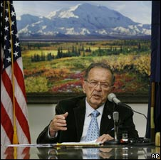 Ted Stevens speaking in Alaska on 19 Sep