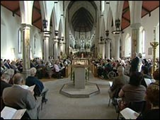 Plymouth Cathedral service
