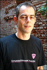 Marcelo Suntheim, secretario de la Comunidad Homosexual Argentina (CHA)