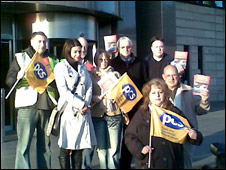 PCS staff on strike
