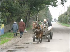 Village scene in Pagarelka