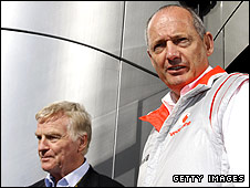 FIA president Max Mosley and McLaren boss Ron Dennis