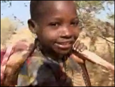 A young Hadza child