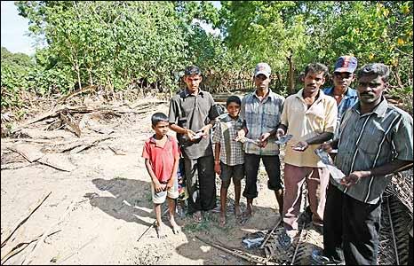 Area hit bt Sri Lankan bombers