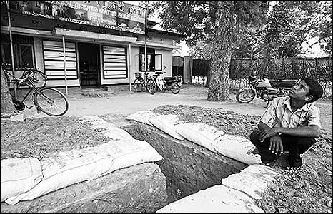 Bunker in Kilinochchi town