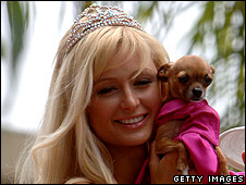 Paris Hilton and pet