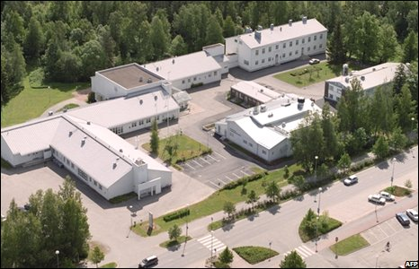 Ariel picture of the school in Kauhajoki, Western Finland, where 9 pupils were shot dead