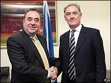 Alex Salmond and Archie Kane