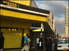 A Western Union store in Kenya