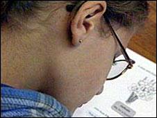 Girl writing