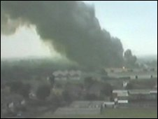 The scene of the fire in 1983