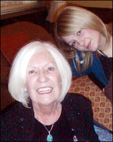 Pat Morris and her grand-daughter