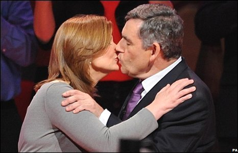 Sarah and Gordon Brown