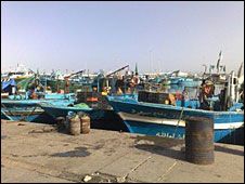 Fishing boats in Zuwarah