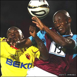 Alhassan Bangura and Luis Boa Morte