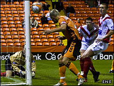 David Goodwillie scores against Airdrie