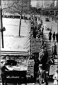 Nueva York durante la Gran Depresión.