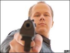 A still from a video said to be of Matti Juhani Saari