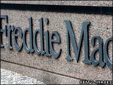 File image of Freddie Mac sign in front of its headquarters