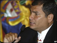 Ecuadorian President Rafael Correa (Sept 2008)