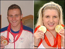Sam Hynd and Rebecca Adlington