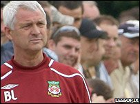 Wrexham manager Brian Little