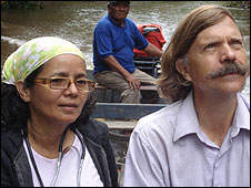 Professor of Anthropology Charles Briggs (R) and his wife Clara (L)
