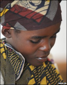 A woman in DRC (image by Kate Eshelby, courtesy of Merlin)
