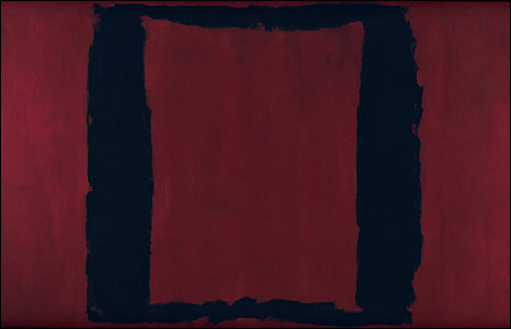 Mark Rothko. Black on Maroon Mural, Section 3 1959, Tate. © 1998 by Kate Rothko Prizel and Christopher Rothko.