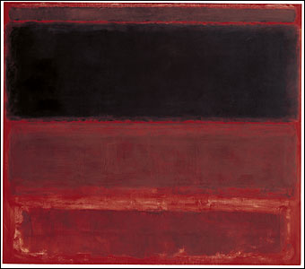 Mark Rothko. Four Darks in Red 1958, Whitney museum of American Art, New York. © 1998 by Kate Rothko Prizel and Christopher Rothko