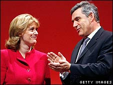 Ruth Kelly and Gordon Brown
