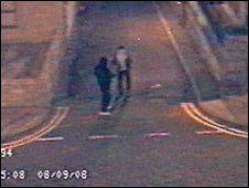 CCTV of two men police want to speak to