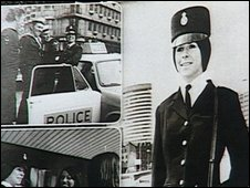 Ellie Baker on a 1970s police recruitment poster