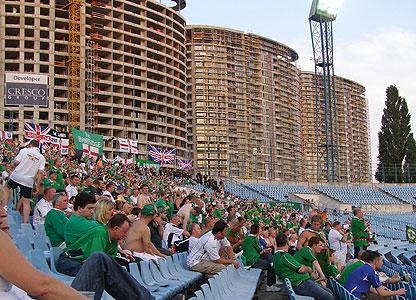 NI fans in Bratislava