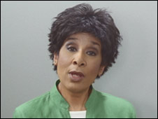 Moira Stuart in the advert