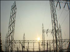 Indian electricity pylons