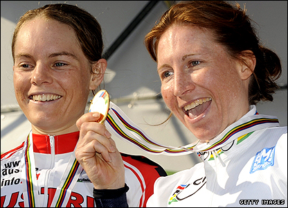 Amber Neben, right, and Christiane Soeder