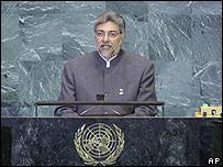 Presidente paraguayo Fernando Lugo en la Asamblea General de la ONU, 24 sept. 2008