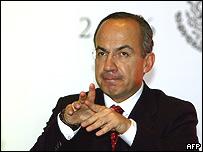 Felipe Calderón, presidente de México (foto de archivo)