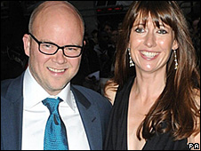 Toby Young with his wife Caroline