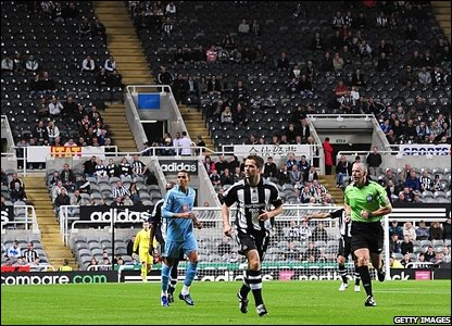 Empty seat at St James' Park