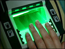 A fingerprint scanner