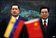 Hugo Chavez and Hu Jintao