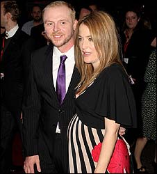 Simon Pegg and Gillian Anderson
