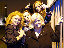A publicity shot for Anne Widdecombe Versus Girl Gangs