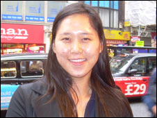 Mi Young, studied english at a language school on oxford street, london